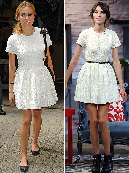 Vestido branco Alexa Chung